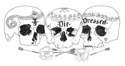 Logo for I DIE DRESSED   by Catherine Willett, Cassie Rose