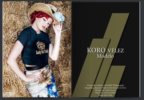 Work  by Iván RDC Photography, Apropos Make Up , Lady Scissors, Koro Vélez