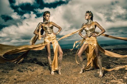 Work  by Ivonne Carlo Sellés Starbuck, Divamp Couture & Miss Aniela, Minna Attala, Miss Aniela, Elbie Van Eeden, Elbie van Eeden