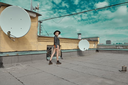Once upon a roof   by Seva Zelikov, Liuda Malykhina