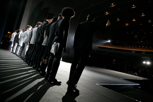 A career highpoint was working as Creative Director for one of the largest menswear shows at London Fashion Week. With a world record-breaking 105 models, each model having an individual look. The show was created for the Savile Row designer Ozwald Boateng OBE.    by Chris Foster