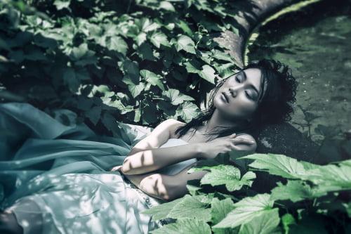 Secret Garden editorial     by Talea Couture, Monica Antonelli, Monia Pedretti, Moonyuong Choi @wave_Management, Silvia Ileana Stella, Stefano De Barbieri