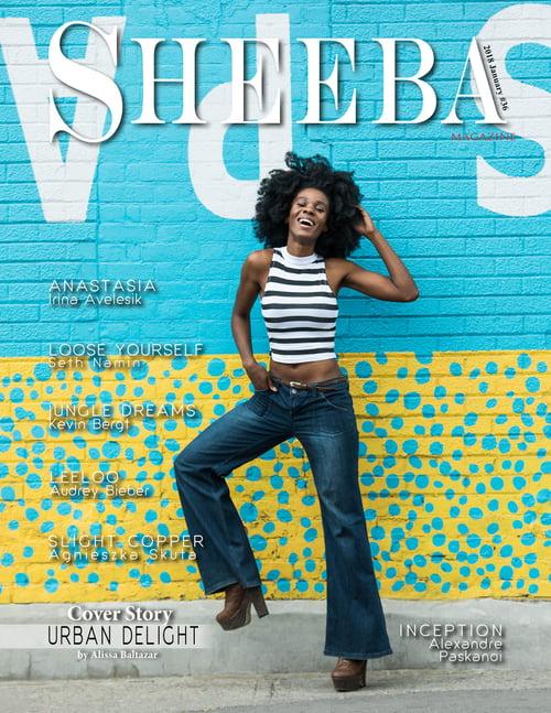 Cover story Sheeba Magazine 2018 January #36   by Alissa Baltazar, Nini Amerlise, Season 1 Winner of Supermodel Canada , na, Nini Love Artistry, Ninistyle.co