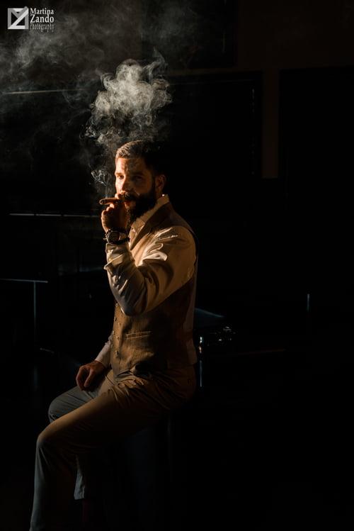 a Cuban Cigar at sunset   by Martina Zandonella, Alex Striptich