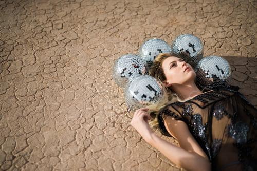 disco balls crown in the desert    by Martina Zandonella, Katrina May Armenta, Nostalgia Resources, Taylored Photo Memories, Kmh Photo, Ruby Finch Salon