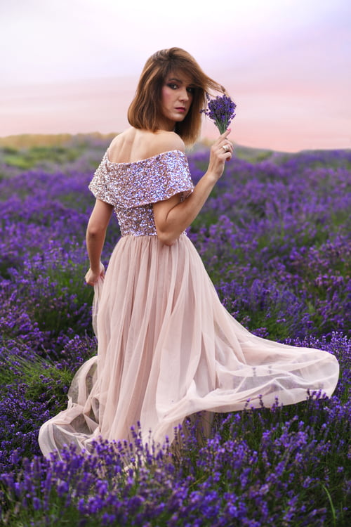 portrait in lavender garden   by Krzysztof Łakomski, Ewa Lakomska