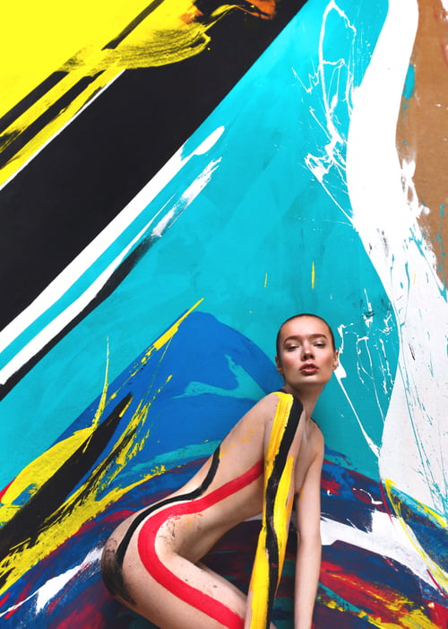 Masha  Mua Yulia vitushkina  Background design and paint on model Daria kochneva   by Amer Mohamad