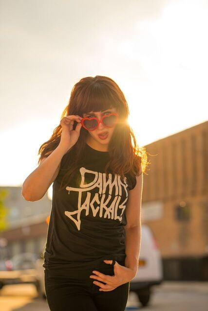 Damn Jackals Band Shirt Website   by Jenny O'Connell, Taylor Reyes