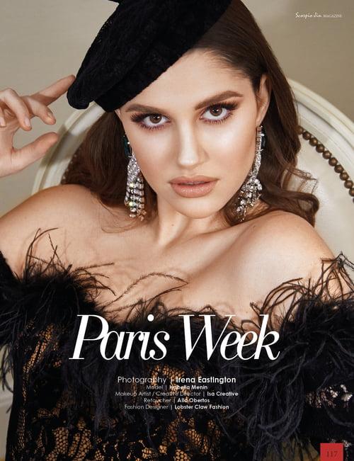 Work  by Scorpio Jin Magazine, Irena Eastington, Model - Isabella Menin, Isa Creative, Alla Obertos, Lobster Claw Fashion
