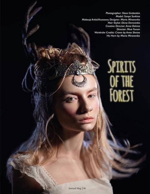 Work  by Slava Grebenkin, Anna Dekina, Maria Mironenko, Surreal Beauty, Sonya Sovkina