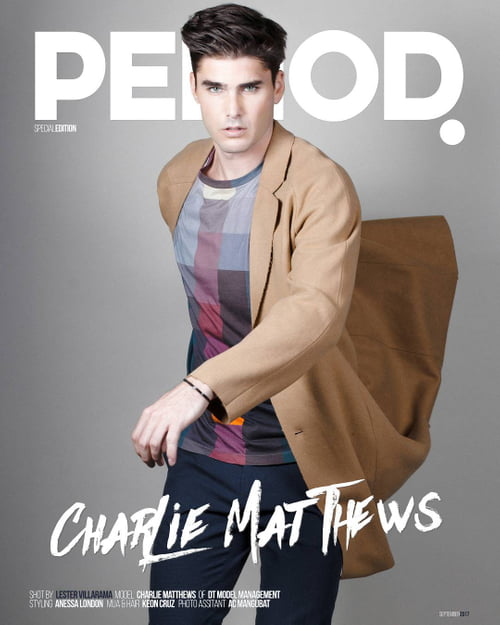 Period Magazine Special Edition COVER featuring Charlie Matthews of DT Model Management shot by yours truly! RELEASED TOMORROW!   by Lester Villarama, Charlie Matthews, ANESSA LONDON, keon cruz, AC Mangubat