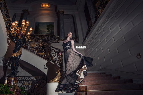 While in Paris France for Paris Fashion Week i shoot this Editorial for Designer Maryanne Meservey    by BlackKat Photography , Maryanne Meservey , Victoria Isk