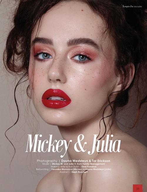Work  by Scorpio Jin Magazine, Dayna Weststeyn , Tor Erickson , Mickey M, Eleni Banakas, Veronika Morozova, Steph Bueckert