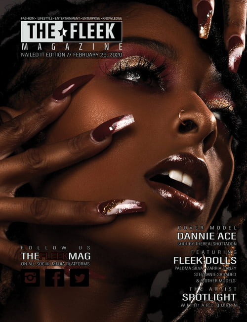 Work  by The Fleek Magazine, Dannie Ace, Olga Burmistrova, MICHAEL BLUE SMITH