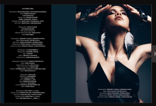 Work  by Nivea Leavell, Alejandro Cerdena, IMIRAGEmagazine, Roberto Calasanz, Dovile Anosova, Andrea Disabatino