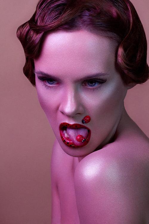 """As wild as a ladybug"" for Glow Magazine (1/4) | Model: Natalia | MUA: Agini Makeup Artist of MUA Familia   by Focused On Beauty, Agnieszka Krzyzowska, Natalia Szura"